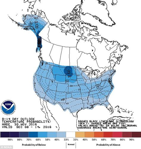us weather map december western half of us to be hit with temperatures of up to 30