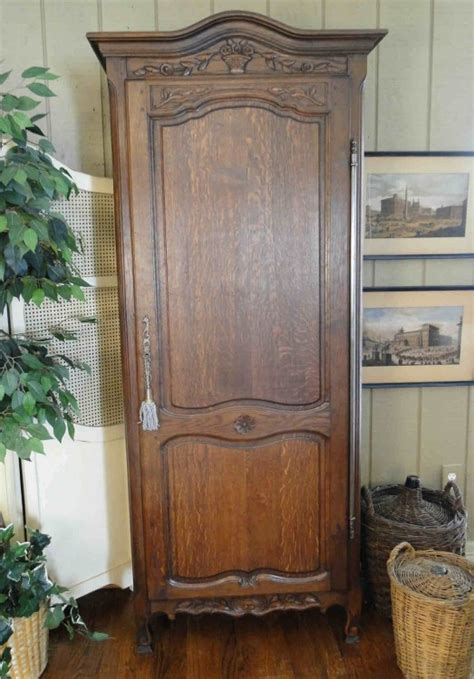 Narrow Armoire by Narrow Antique Country Armoire With Lock And