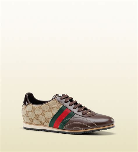 gucci womens shoes gucci womens shoes classic guccisima brown sneakers with