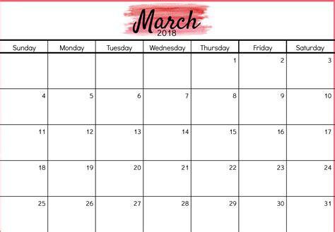 printable calendar pdf march 2018 calendar in pdf word excel printable template