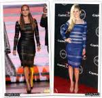 Who Wore It Better Catherine Malandrino V Dress by Peyton List S Clover Lotus Temple Dress