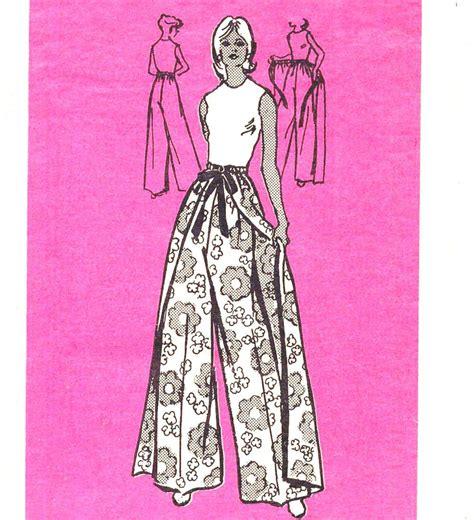 sewing pattern wrap 70 s boho easy sew wrap pants vintage sewing pattern anne