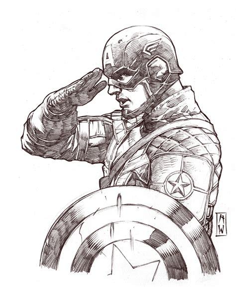 sketchbook marvel captain america sketch by admirawijaya on deviantart