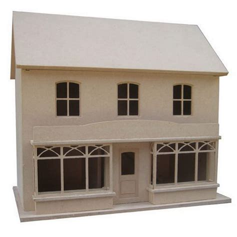 1 24 scale dolls houses double fronted dolls house shop unpainted kit 1 24 scale dhw258