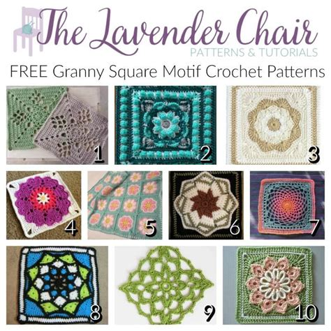 Free Crochet Patterns Free Crochet Square Motif free square motif crochet patterns the lavender chair