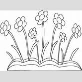 Black and White Spring Flower Patch Clip Art - Black and White Spring ...