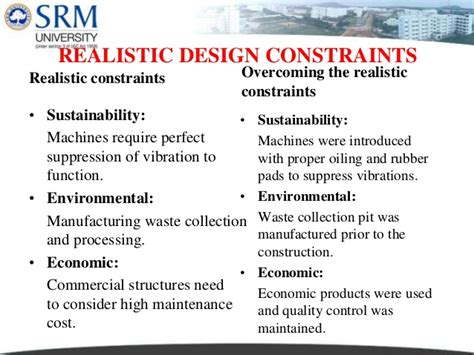design brief specification and constraints project