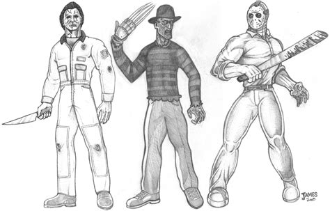 Michael Myers Free Coloring Pages Freddy Vs Jason Coloring Pages