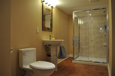 finished bathroom designs basement bathroom ideas with spacious room designs amaza