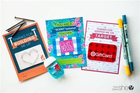 gift cards ideas for creative gift card ideas for teachers with free printable