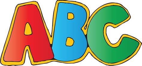 free clipart free abc clipart