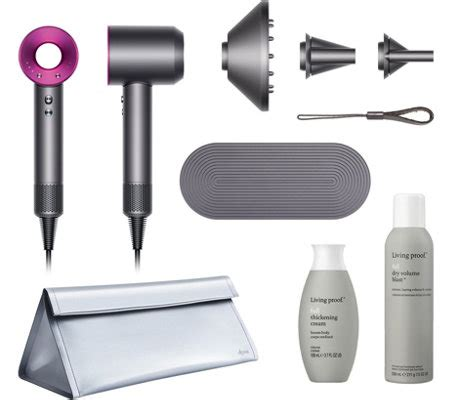 Hair Dryer Cabin Baggage dyson supersonic hair dryer with living proof and travel bag page 1 qvc