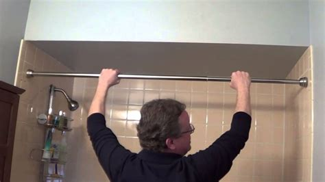 how to install a shower curtain rod shower rod installation tension shower rods youtube
