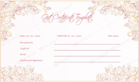 photo gift certificate template gift certificate templates 5 beautiful gift certificates
