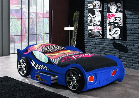 audi race car bed lit voiture enfant avec tiroir coloris bleu turbo lit