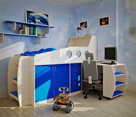 blautöne wandfarbe schlafzimmer offen gestalten