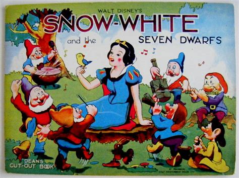 snow white and the seven dwarfs picture book snow white and the seven dwarfs dean s cut out book by