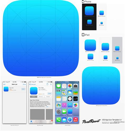 app templates 15 free psd templates for your next ios 7 app web