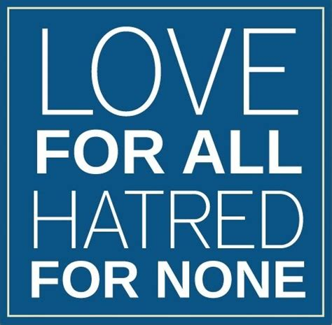 for all for all hatred for none bilal tahir