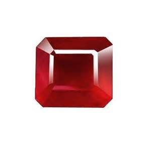 rubby square ruby fancy scissor square cut gem unset