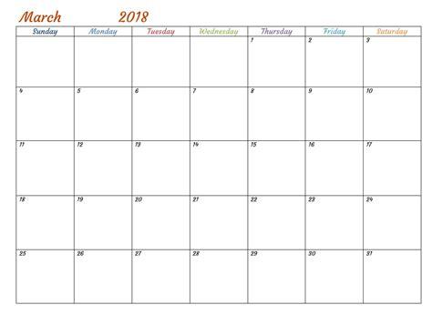2018 calendar word calendar template word