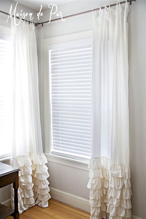 Ruffled Window Curtains Ruffled Curtains Maison De Pax