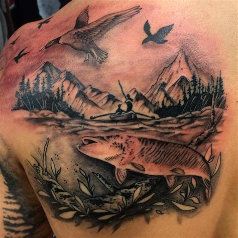 hunting and fishing tattoo designs 75 best designs and ideas hobby