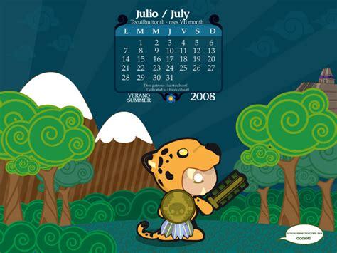 Calendario Julio 2008 Calendario Julio 2008 By Mictlantectli On Deviantart