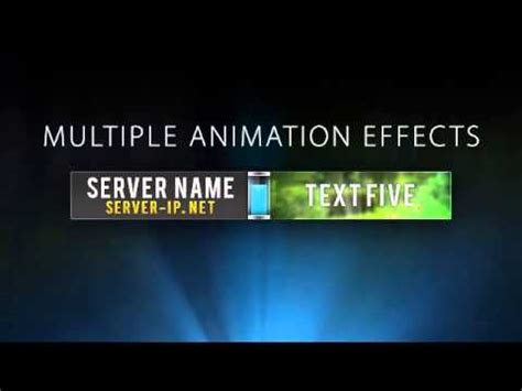 minecraft server banner template gif quot upsurge quot youtube