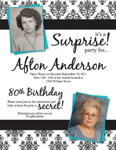 sle invitations for 80th birthday 43 best images about s 80th birthday on