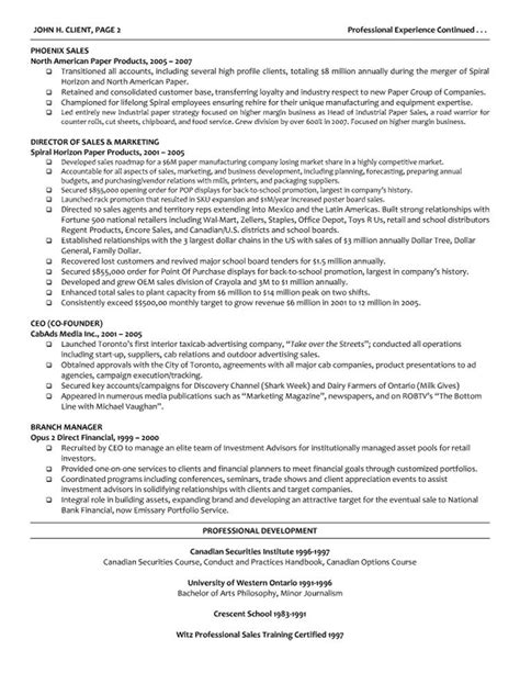 resume template for managers executives executive director resume template management exle