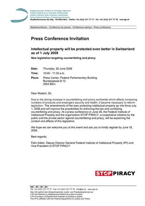 conference press release template press conference invitation