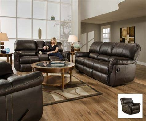 Best Deals On Leather Sofas Best Deal Simmons 50365 Blackjack Brown Leather Theater Cupholders Storage Reclining Chair