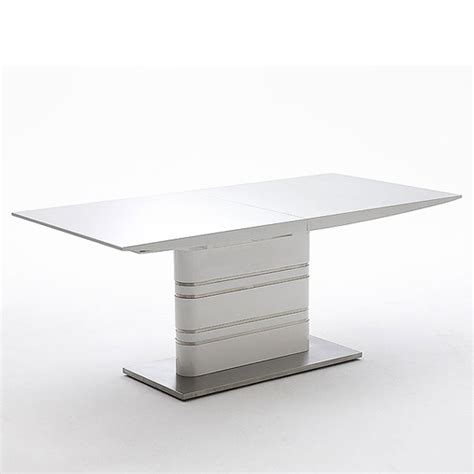 modus extending white gloss dining table 19540 furniture in