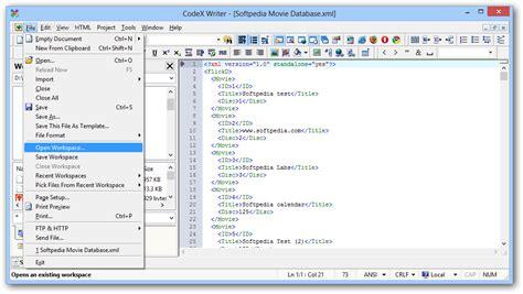 codex template codex writer