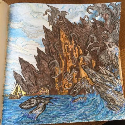 thrones coloring book finished pages all must draw gameofthronescoloringbook