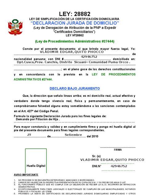 ley sobre topes declaracion 2016 ley declaracion domicilaria123 doc