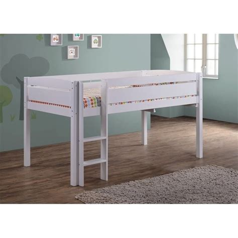 white wood loft bed canwood whistler junior wood loft bunk bed in white 2131 1