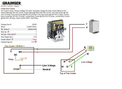 thermostat transformer relay wiring diagram get free