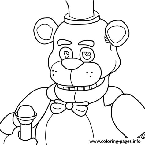 Fnaf 1 Coloring Pages by Print Five Nights At Freddys Fnaf Coloring Pages Kaden