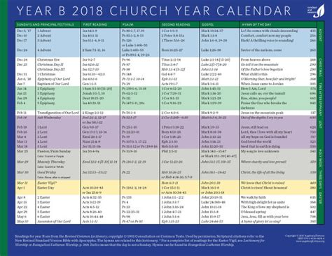 Calendar 2018 Jesus Worship