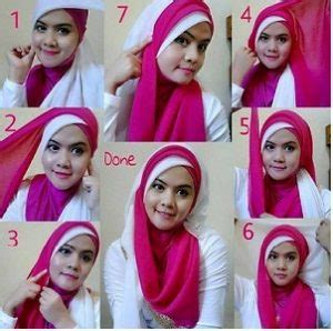 tutorial jilbab pesta dua warna 15 tutorial hijab segi empat dua warna simple terbaru