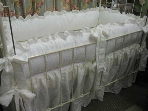 Vintage White Crib Bedding Ruffled White Nursery Vintage Style Crib Bedding
