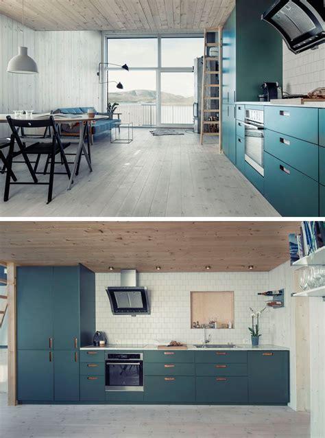 kitchen color inspiration  shades  blue cabinets contemporist