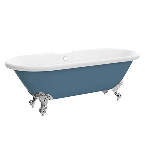 ball and claw bathtub duke blue 1695 double ended roll top bath w ball claw