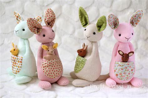 animal doll tutorial sock kangaroo plushie free sewing pattern tutorial