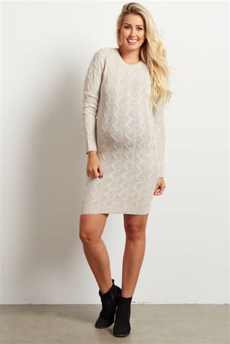 ivory cable knit sweater dress ivory cable knit maternity sweater dress