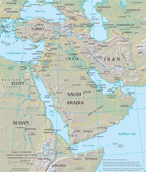 middle east map landforms middle east map cc geography middle east