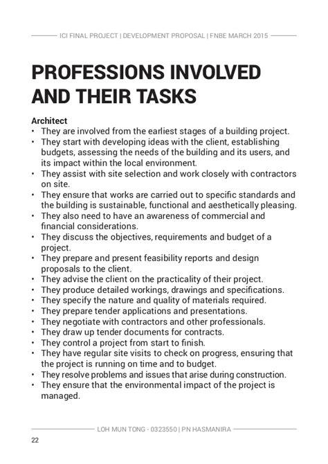 Architect S Fee Letter Uk ici development