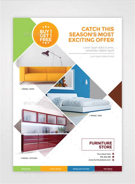 Free Home Interior Design Software Furniture Flyer A4 By Pencildesigns Graphicriver